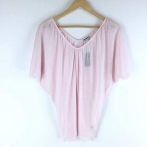 Express Double V Neck Tee Pink Size S